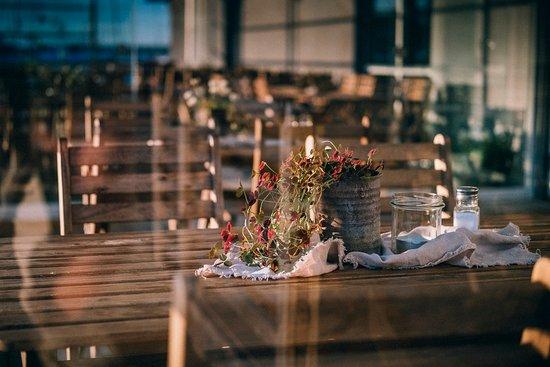 Donso, Sweden: Uteservering höst