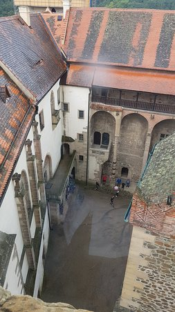 Krivoklat, Tjekkiet: pohled z věže