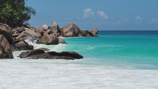 Praslin Island, Seychelles: Anse Georgette.