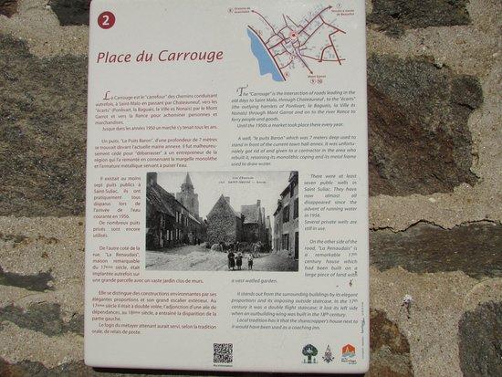 St Suliac, France: Place centrale du village