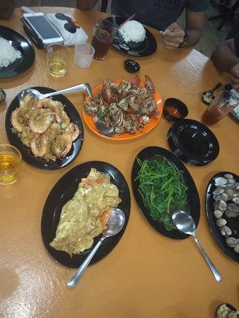 Kuala Sepetang, Malaysia: Our meal