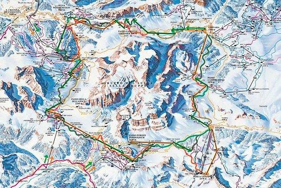 Excursión de esquí en los Dolomitas...