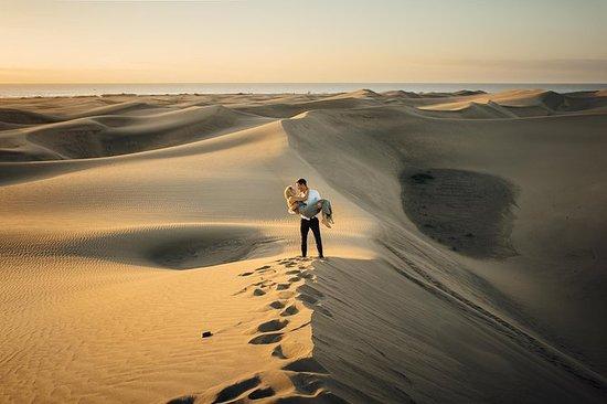Photoshooting di dune di Maspalomas