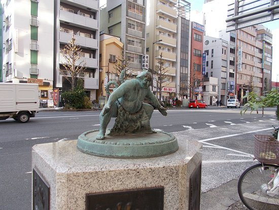 The Statue of Sumo Wrestler on Kokugi-Kan Street