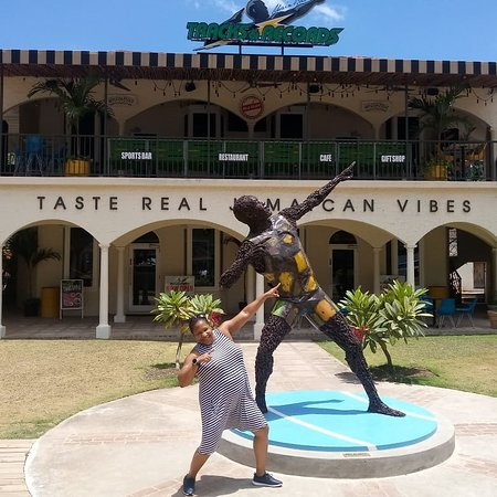 Shrimpy's Tours and Transfer: The World reknowned Usain Bolt Tracks and Records restaurant in Montego Bay