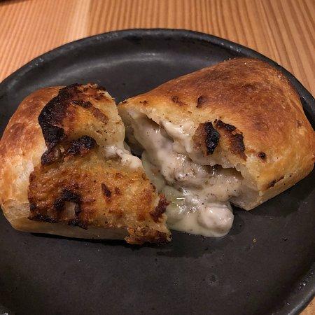 Momofuku Ko: cheese hot pocket