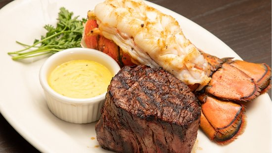 Plaza III Steakhouse: Family owner local KC restaurant. USDA PRIME filet from local steak company. Cut by the in-house butcher. Farm raised with natural grain. The lobster tails are never frozen. Steamed and broiled. House-made bearnaise sauce. Shopsmall