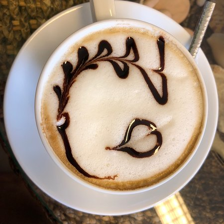 Just as I wanted my cappuccino ❤️☺️