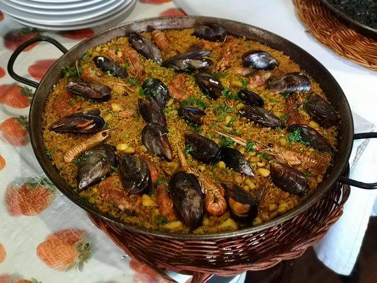Ciudad Jardin, Spain: Paella de marisco.