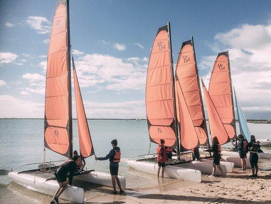 Loix, France: Cours de catamaran
