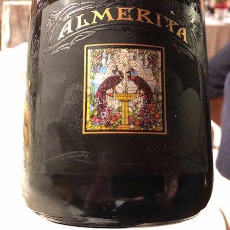 San Gusme, Italy: Polpo su caponata,mazzancolle,seppie e melanzane,sfingi con miele e crema,Spumante Almerita