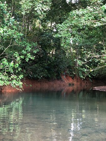 Playa Tortuga, Costa Rica: The beautiful river on the property.