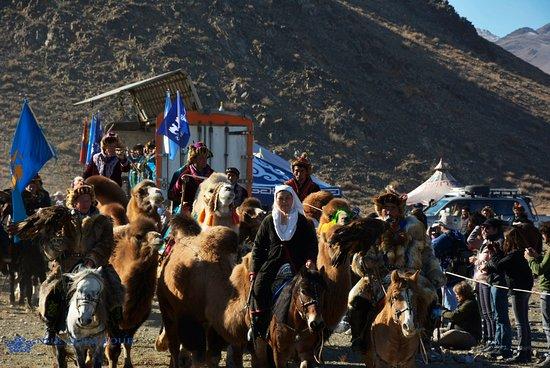 Bayan-Olgii Province, Mongolei: Eagle Festival 2018.