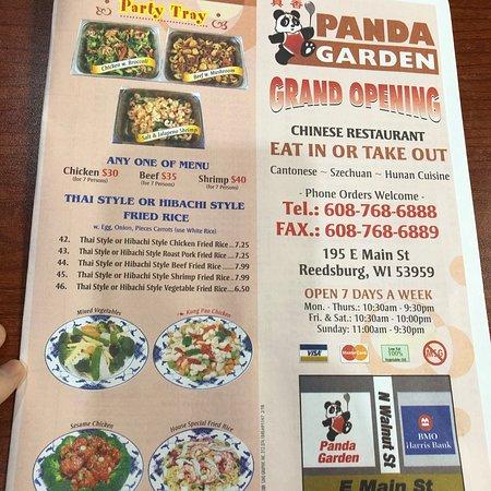 panda garden reedsburg restaurant reviews phone number photos