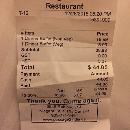 Buffet indio muy barato
