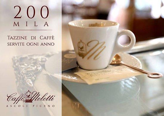 200.000 tazzine servite ogni anno. Il caffè è un momento di piacere a cui non si può rinunciare e noi del Caffè Meletti ci teniamo a farvelo godere sempre al meglio.
