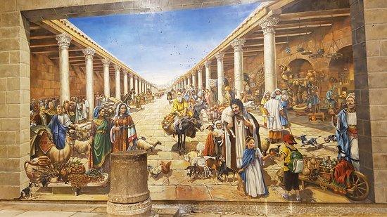 הקארדו: Gran mosaico que muestra como debió ser el Cardo en su época