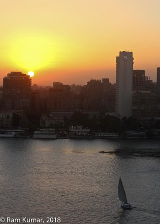 View of the nile from our room