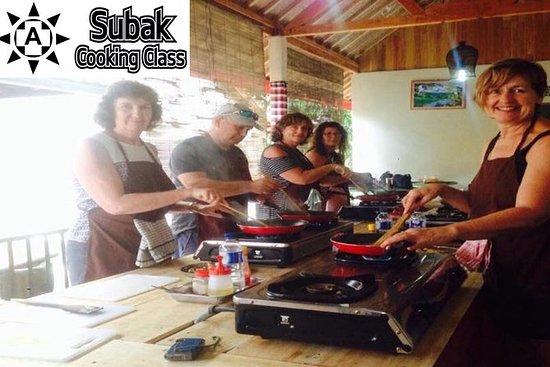 Subak烹饪班(巴厘岛烹饪学校)9菜肴烹饪和市场游