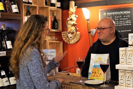 Dégustation de vins vénitiens: boire...