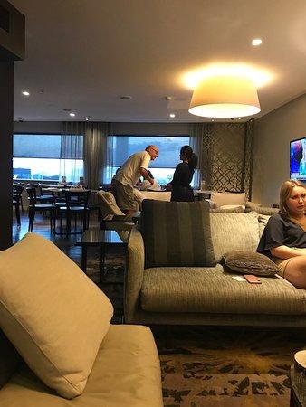 Relaxing atmosphere on 9th floor