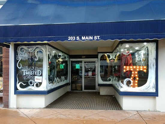 Elkhart, IN: The Twisted String storefront on Main Street