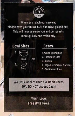 Freestyle Poke: Choose your size, but leave your cash at home.