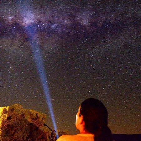 Centro da Via Láctea visto da varanda do quarto!