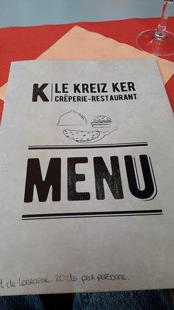 Restaurant Le Kreiz Ker: menu