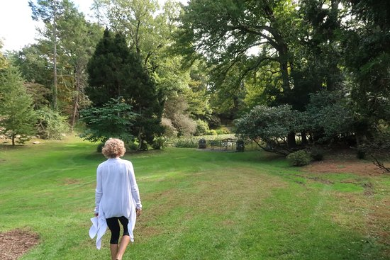 Cos Cob, CT: Visiting the Greenwich Botanical Center with Yoga instructor, Helena Svedin.