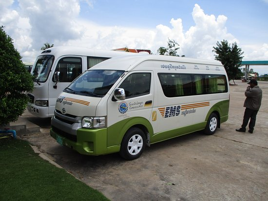 Cambodia Post VIP Van: Post Van at one of our rest stops.