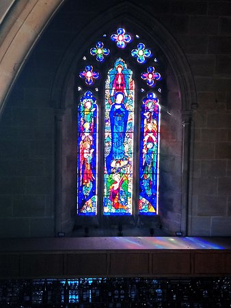 Stainless Glass window inside the Chapel
