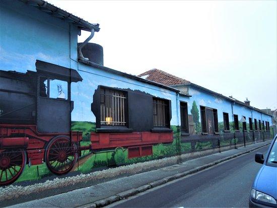 Fresque Le train