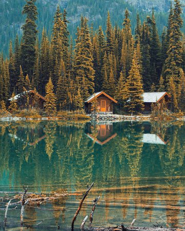 Yoho National Park, Canadá: Cabin in the woods.