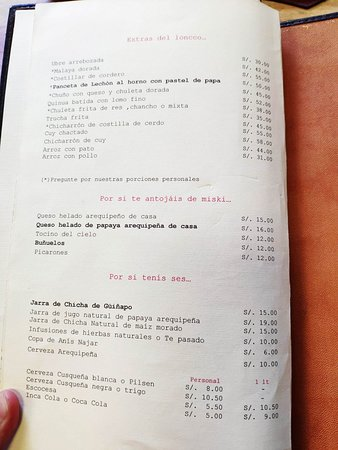 Típica comida arequipeña a costo accesible