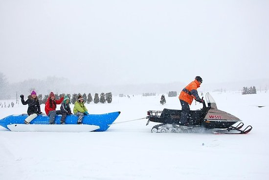 Fun in the Snow! Banana boat...