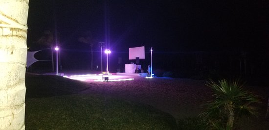 The stage for the beach party