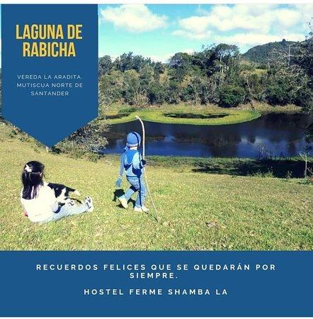 Mutiscua, Колумбия: Laguna de Rabicha, a 800mts del Hostel Ferme Shamba La, nivel de exigencia física para caminata: Baja