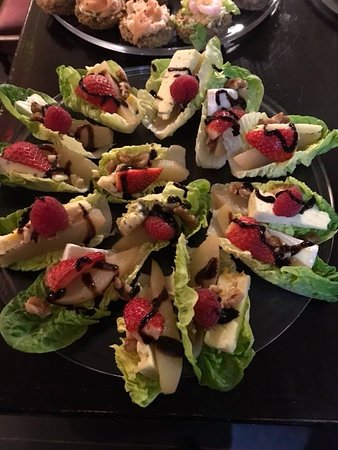 Portarlington, Ireland: Evening catering canapes