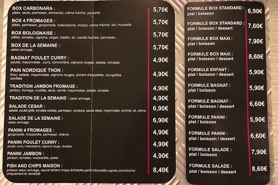 Demouville, France: J'ai photographié le flyer pour que vous ayez une idée de ce qui est proposé ainsi qu'un ordre de prix