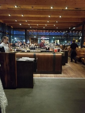 The bar as you walk in and its so cool!