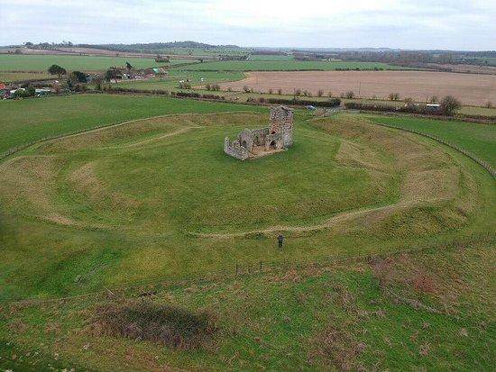 Cranborne, UK: aerial view of whole site