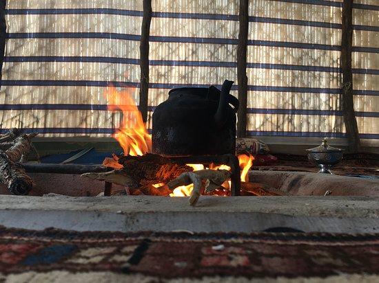 Yasuj, Ιράν: Fire place inside a nomadic tent