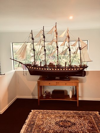 This is France II Ship (2meter hull size, dark colour) It was assembled by my guest in New Zealand.