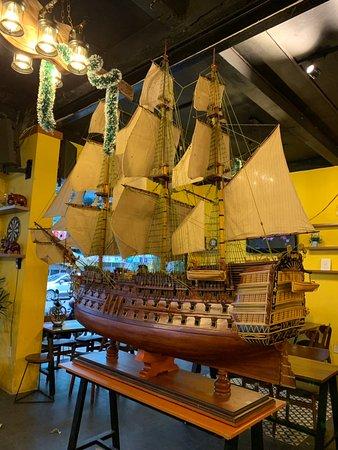 HMS Victory (2m hull size) at Coffee Shop in Da Nang city, Viet Nam