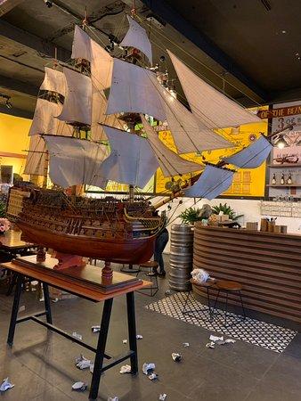HMS Victory 2m hull size at Coffee Shop in Da Nang city, Viet Nam