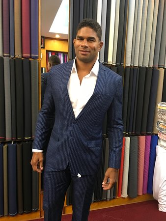 Alistair Overeem in the shop, great fighter and respected client of our store. It was his 5th times visits in our store.