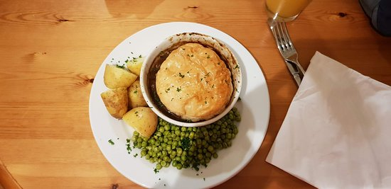 Scourie, UK: Steak Pie - that is Steak Stew with a flaky pastry hat. Tasted great however