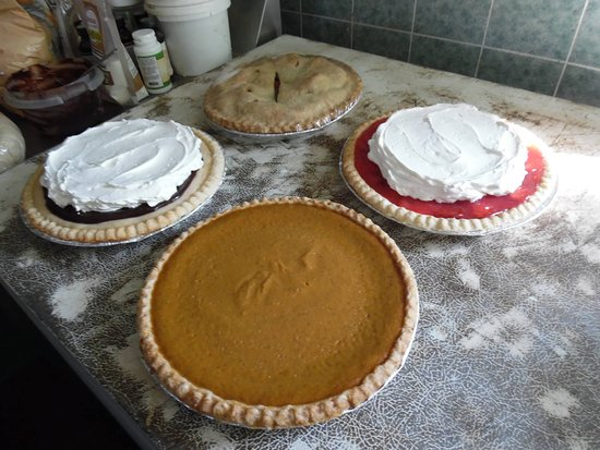 Island Pond, VT: some of our home made pies