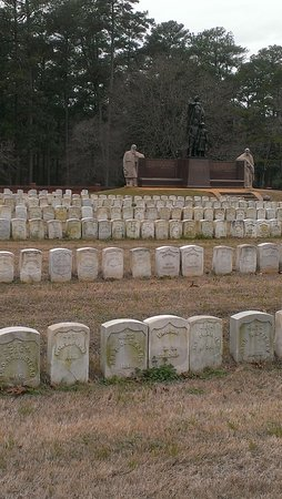 Andersonville, grave markers of some who did not survive this civil war prisoner camp.  An uncle's tombstone is within this shot.
